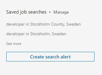 Create search alert