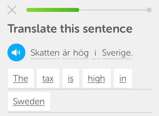 The tax is high in Sweden